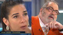 El reclamo de Juana Viale a Jorge Lanata en plena entrevista
