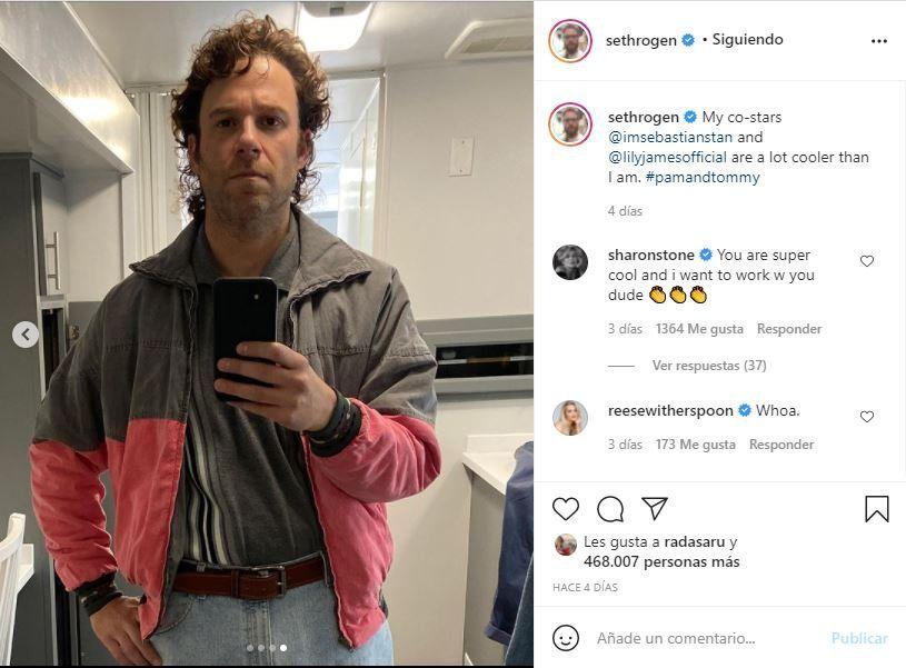 Este es el posteo que compartió el actor y comediante Seth Rogen en su Instagram