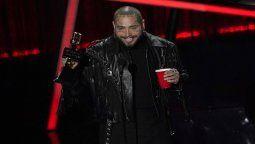 ¡La estrella! Post Malone arrasó en los Billboard Music Awards