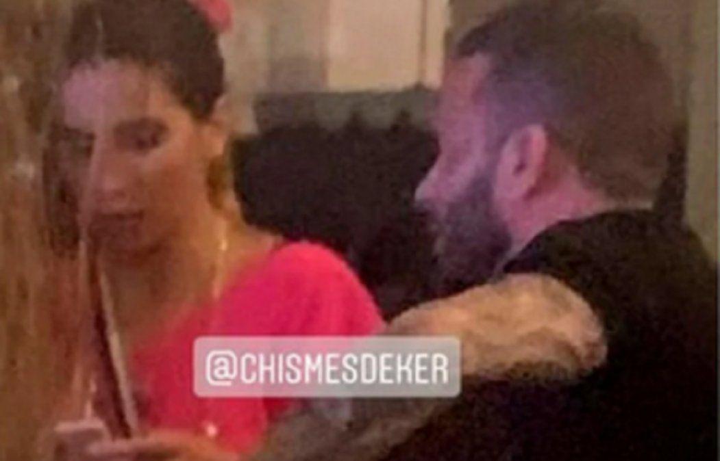 Esta es la imagen donde se le ve a Cinthia Fernández y Martín Baclini juntos