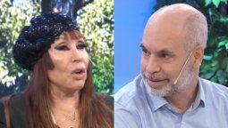 Moria Casán descolocó a Horacio Rodríguez Larreta en vivo: Es el único político con cara de extraterrestre