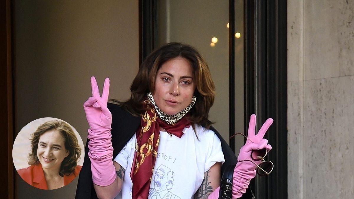 ¡Qué detalle! Lady Gaga repartió flores a sus fans