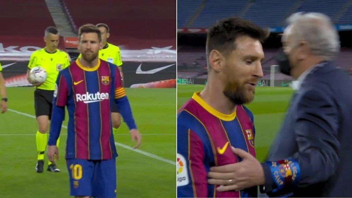 ¡Se molestó! Lionel Messi encaró a un árbitro
