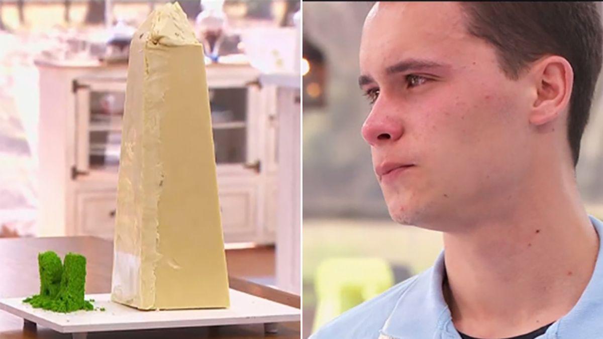 La torta Obelisco que eliminó a Ángelo de Bake Off