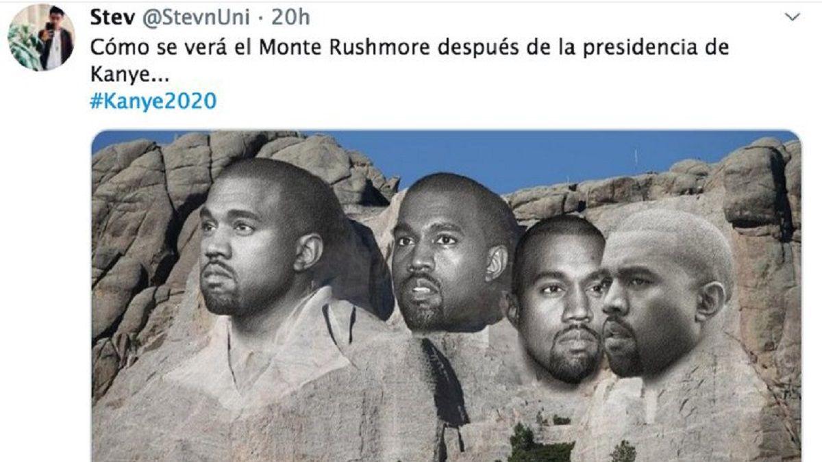 Un usuario de Twitter cree que así se verá el Monte Rushmore si Kanye llega a la presidencia