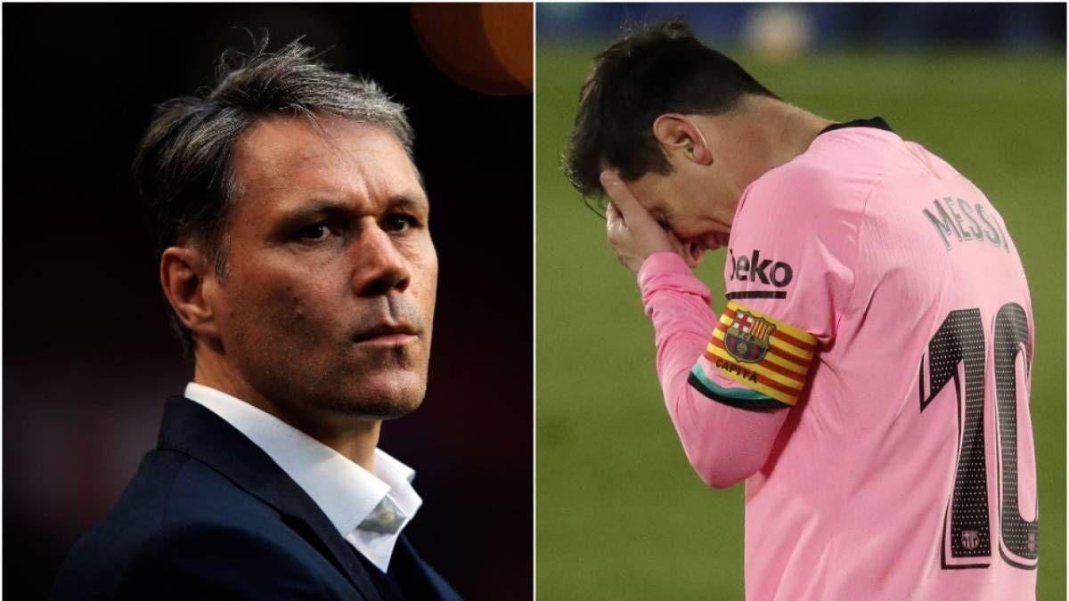 Marco van Basten considera que Lionel Messi está en un terrible momento