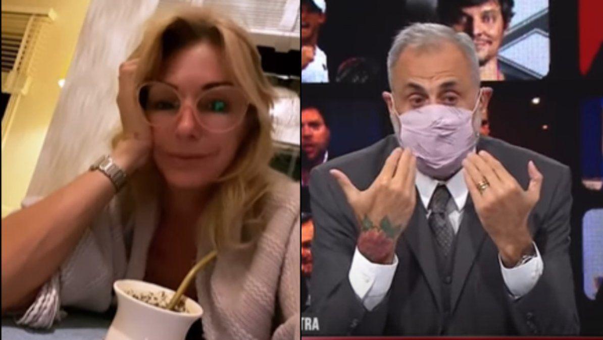 A mí me hizo bolsa Yanina Latorre contra Jorge Rial al anunciar que se vacunará en Miami