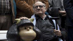 Joaquín Salvador Lavado Quino, fue homenajeado en el Banco de Mafalda en San Telmo