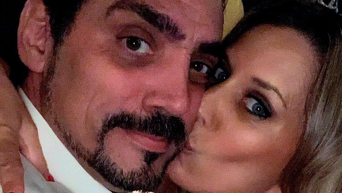 Rocío Marengo junto a su ex pareja, Eduardo Fort