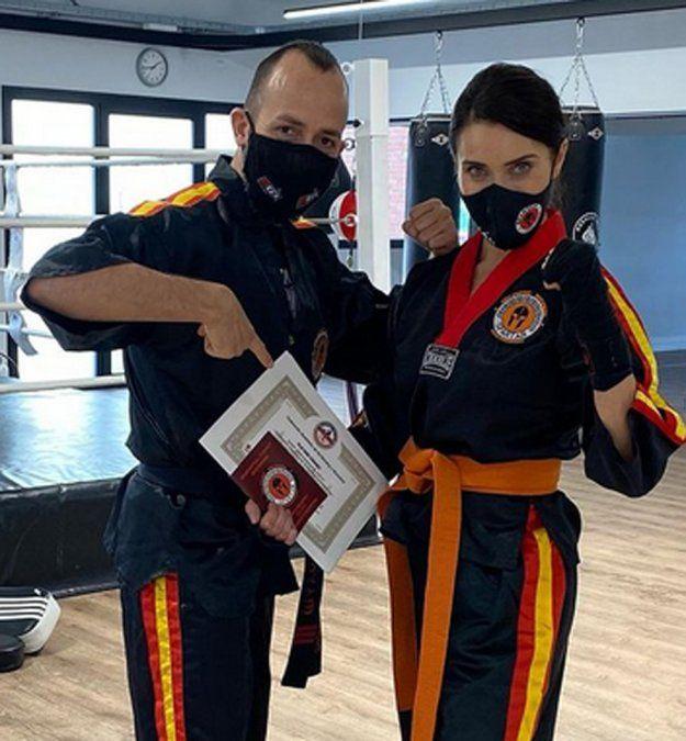¡Para temer! Pilar Rubio ya es una experta en kickboxing