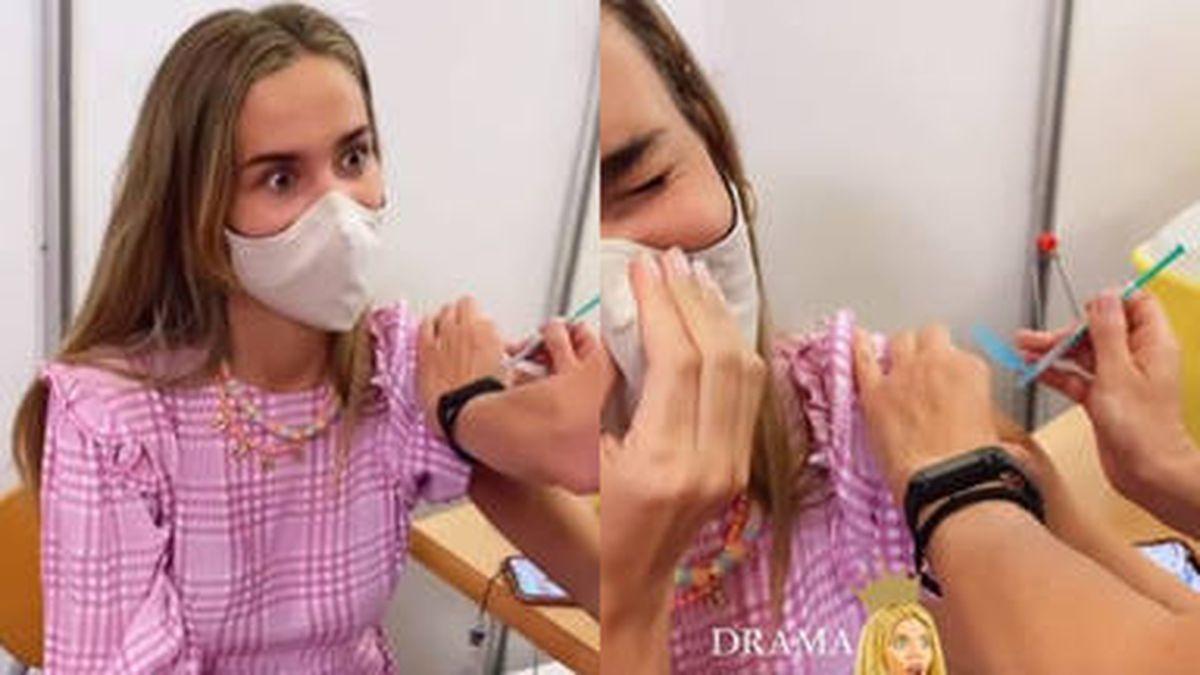 ¡Vacunada! María Pombo con prioridad a sus 26 años