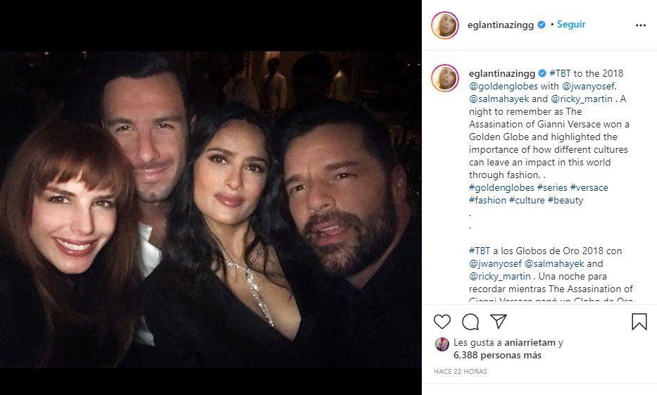 {altText(<p>Hace algunas horas, la influencer venezolana Eglantina Zingg postéo un #tbt junto a Ricky Martin</p>,Ricky Martin: Influencer podría ser la madre de sus hijos )}