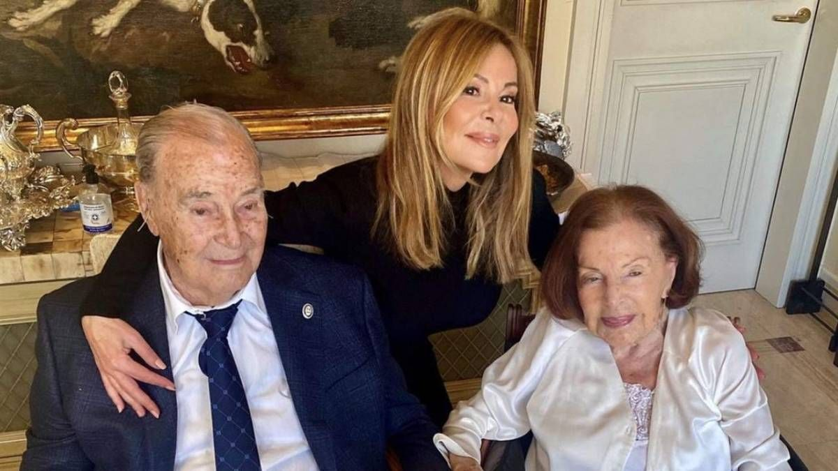 ¡Afortunada! Ana Obregón celebró los 95 años de su padre