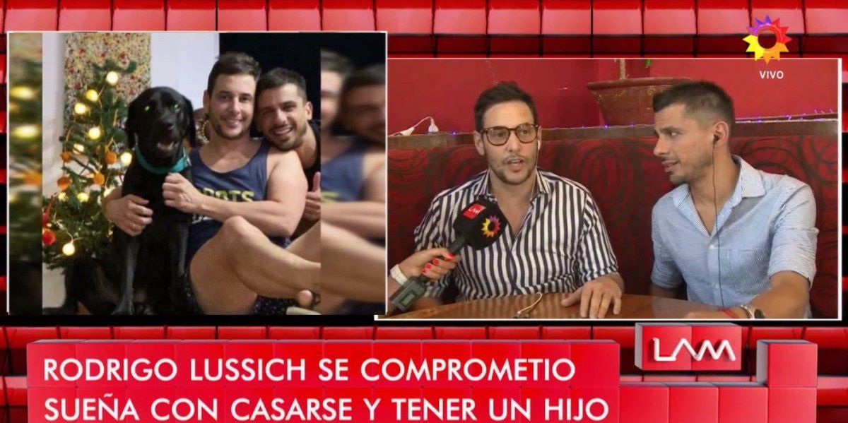 Rodrigo Lussich y su novio dieron un móvil juntos contaron detalles de su casamiento y hablaron de la posibilidad de ser padres