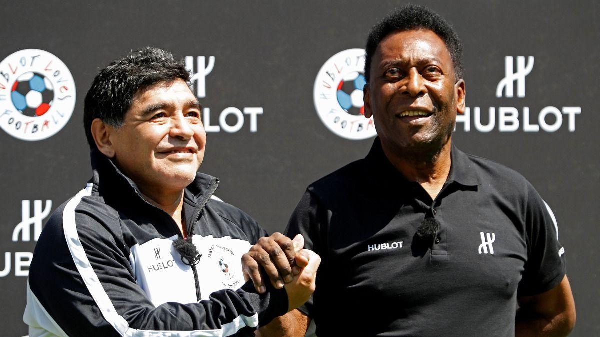 Diego Maradona y Pele se reecontraron en París hace 4 años