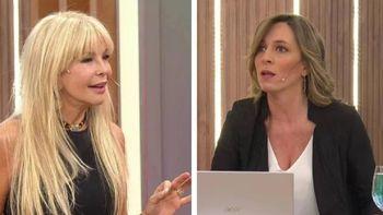 La ex vedette Graciela Alfano y la periodista Sandra Borghi