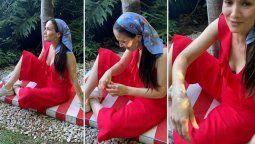 Natalia Oreiro tuvo un percance mientras hacía fotos en exteriores