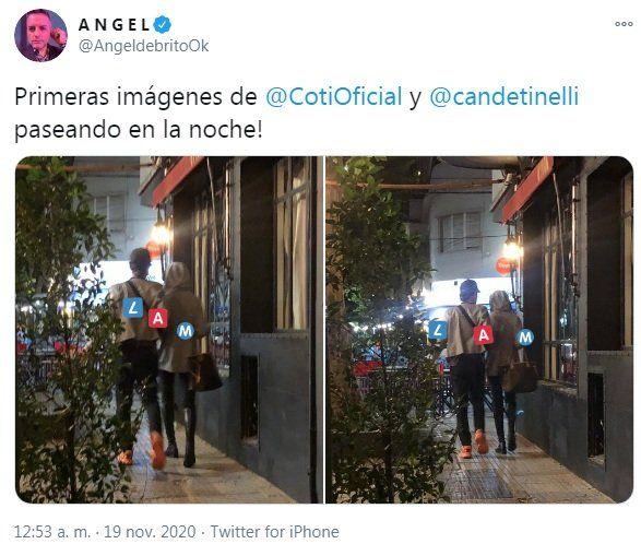 Coti sorokin y cande Tinelli juntos en público