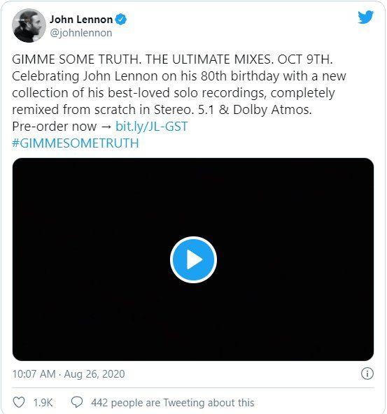 La colección conmemorativa fue anunciada en las redes sociales de John Lennon