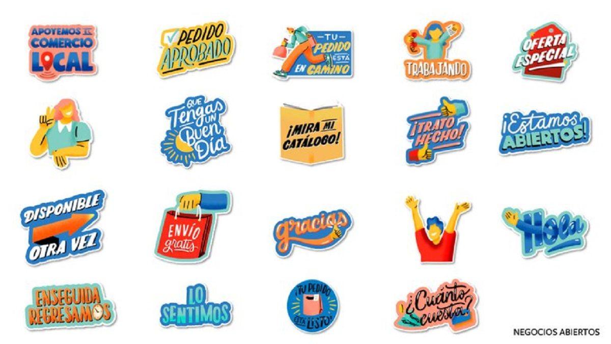 Stickers animados ideados para una mejor comunicación con los clientes