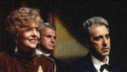 La actriz Diane Keaton y Al Pacino durante una escena de El Padrino III