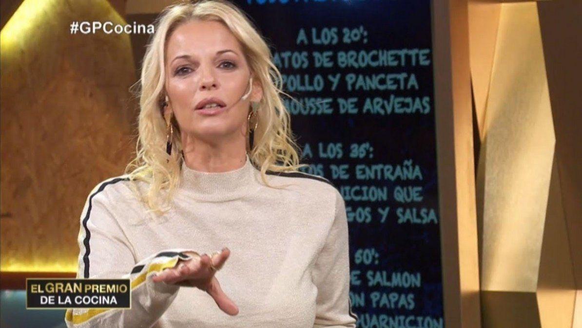 Carina Zampini se enojó con un participante de El Gran Premio de la Cocina