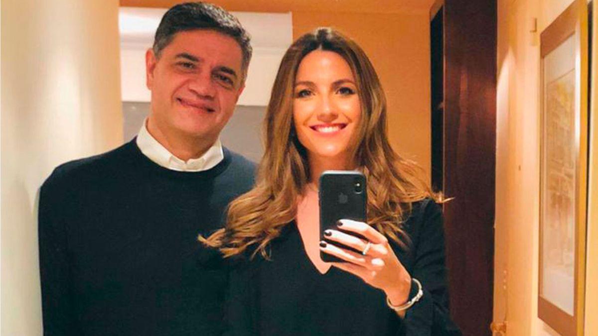Jorge Macri junto a su pareja la periodista María Belén Ludueña