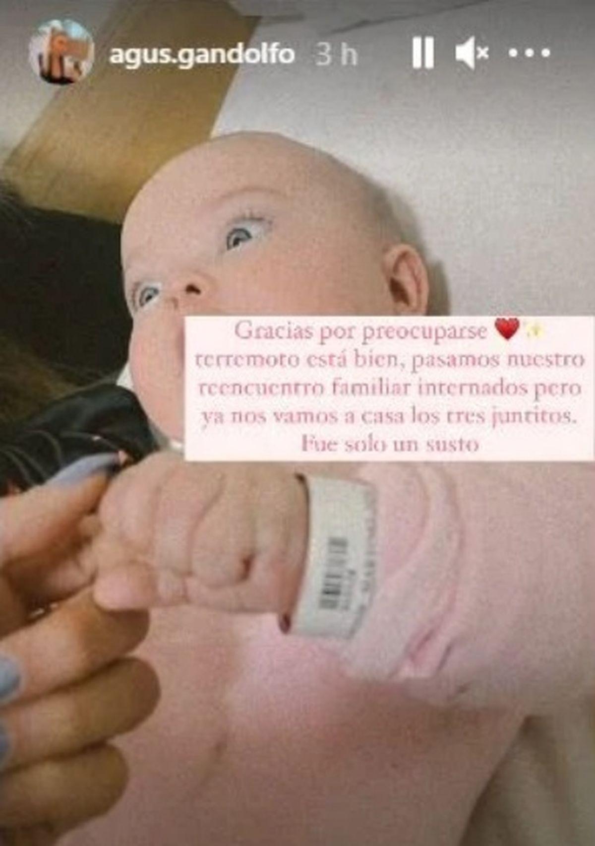 La bebé de Lautaro Martínez fue internada tras un accidente doméstico