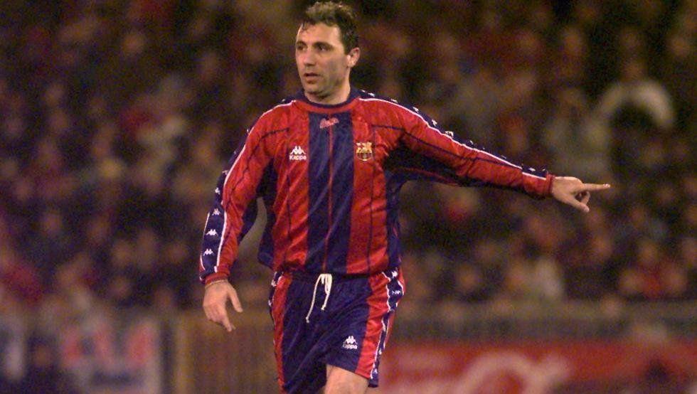 HristoStoichkov ganó 15 titulos con el Barcelona y jugó 7 temporadas con el club